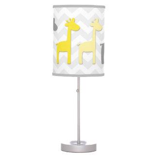 Yellow Grey Giraffe Nursery Lamp