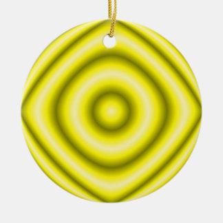 yellow grey round ceramic ornament