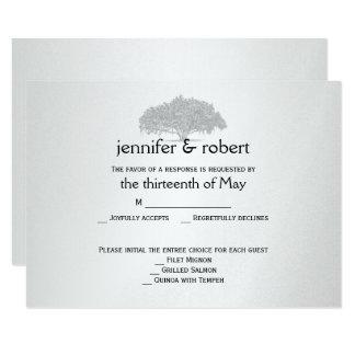 Yellow Grey Silver Mossy Oak Wedding Response Card
