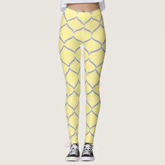 Yellow Grey Teardrop Leggings