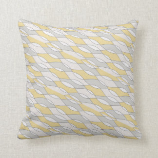 Yellow & Grey Themed Abstract Design Pillow