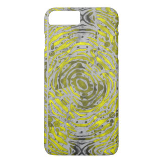 Yellow Grey Zebra Pattern iPhone 7 Plus Case