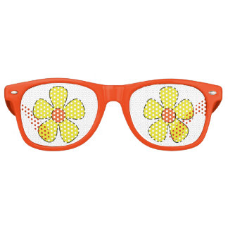Yellow groovy flower party shades