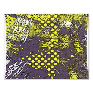 Yellow Grunge Abstract Art Photo