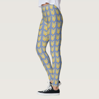 Yellow Guardian Angel Art Custom Holiday Leggings