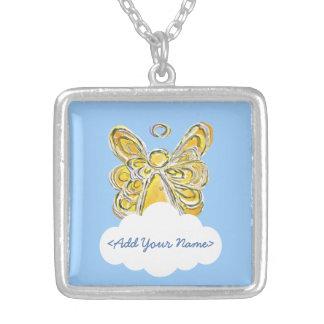 Yellow Guardian Angel Series Cloud Custom Necklace