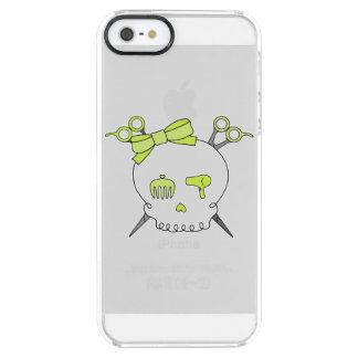 Yellow Hair Accessory Skull -Scissor Crossbones Clear iPhone SE/5/5s Case