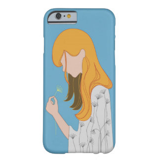 Yellow Hair Illustration Barely There iPhone 6 Case