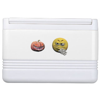 Yellow halloween emoticon or smiley