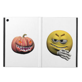 Yellow halloween emoticon or smiley case for iPad air