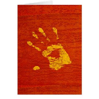 Yellow Hand Card