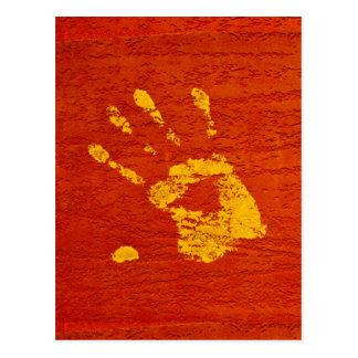 Yellow Hand Postcard