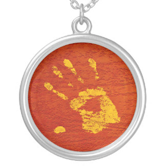 Yellow Hand Silver Plated Necklace