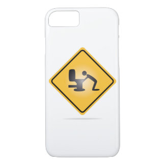 Yellow hangover warning sign iphone 7 case
