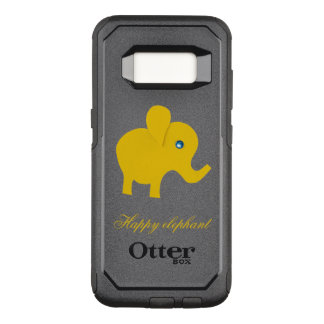 yellow happy elephant OtterBox commuter samsung galaxy s8 case