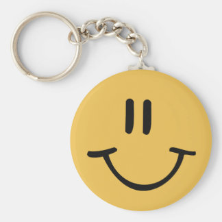 Yellow Happy Face Keychain
