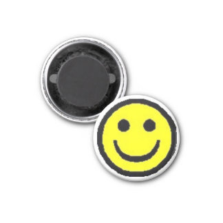 Yellow Happy Face Magnet
