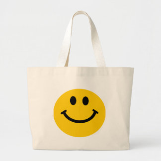 Yellow happy smiley face bag