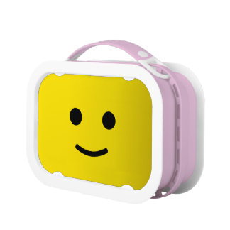 Yellow Happy Smiley Face Lunch Box