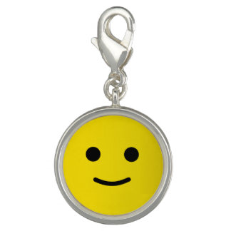 Yellow Happy Smiley Face Photo Charms