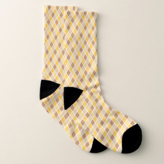 Yellow Harlequin Large All-Over-Print Socks