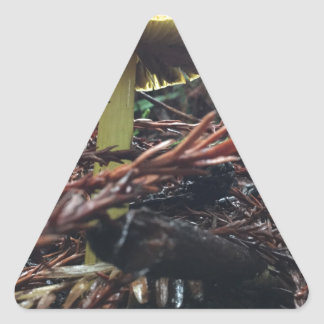 Yellow Hat Mushroom Triangle Sticker