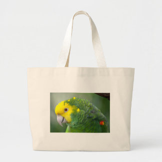 Yellow Headed Amazon Large Tote Bag