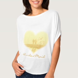 Yellow Heart Beach Wedding T-Shirt