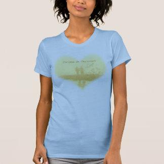Yellow Heart Beach Wedding T-shirt
