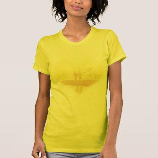 Yellow Heart Beach Wedding Shirt