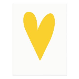 Yellow Heart |Chin up buttercup | Motivational Postcard