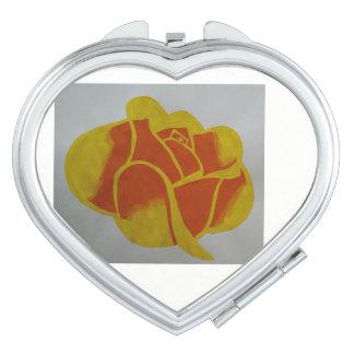 Yellow Heart Compact Mirror