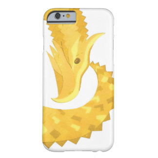 Yellow heart dragon on white barely there iPhone 6 case