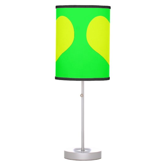Yellow Heart Green Table Lamp