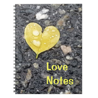 Yellow Heart Leaf - Love Notes Notebook
