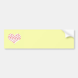 Yellow Heart Photo Frame Bumper Stickers