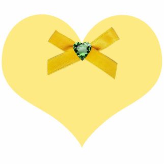 Yellow Heart Pin Cut Outs