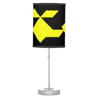 Yellow helicopter Tangram Table Lamp