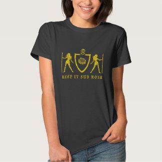 Yellow Heraldic Rose T-Shirt