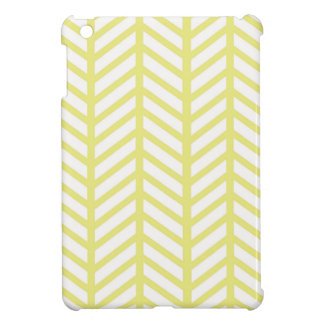 yellow Herringbone iPad Mini Cover