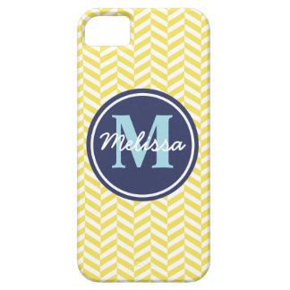 Yellow Herringbone iPhone 5 Cover