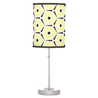 Yellow Hexagon with Black Border and Dot ©AH2017 Table Lamp