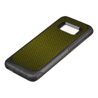 Yellow Hexagonal Carbon Fiber Honeycomb Mesh OtterBox Commuter Samsung Galaxy S8 Case