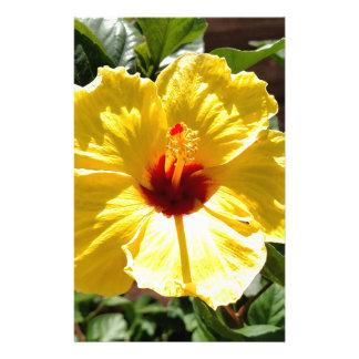 Yellow Hibiscus Stationery Paper