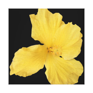 Yellow Hibiscus Wall Hanging Canvas Print