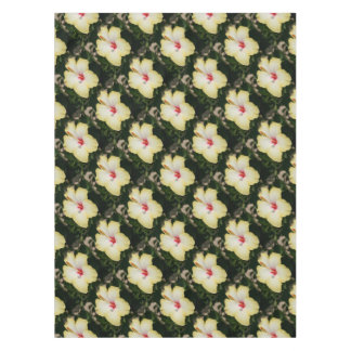 Yellow Hibiscus With Garden Background Tablecloth