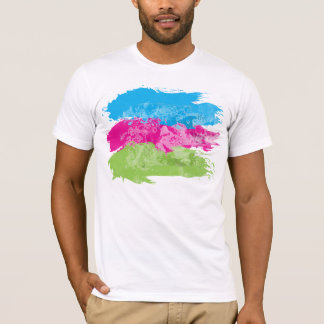 Yellow Hibiscus With Water Effects T-Shirt
