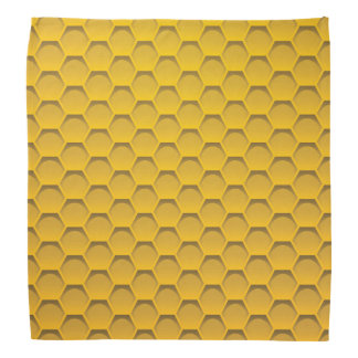 Yellow Honeycomb Pattern Bandana