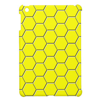 Yellow honeycomb pattern cover for the iPad mini
