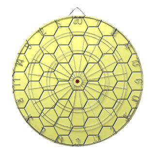 Yellow honeycomb pattern dartboard